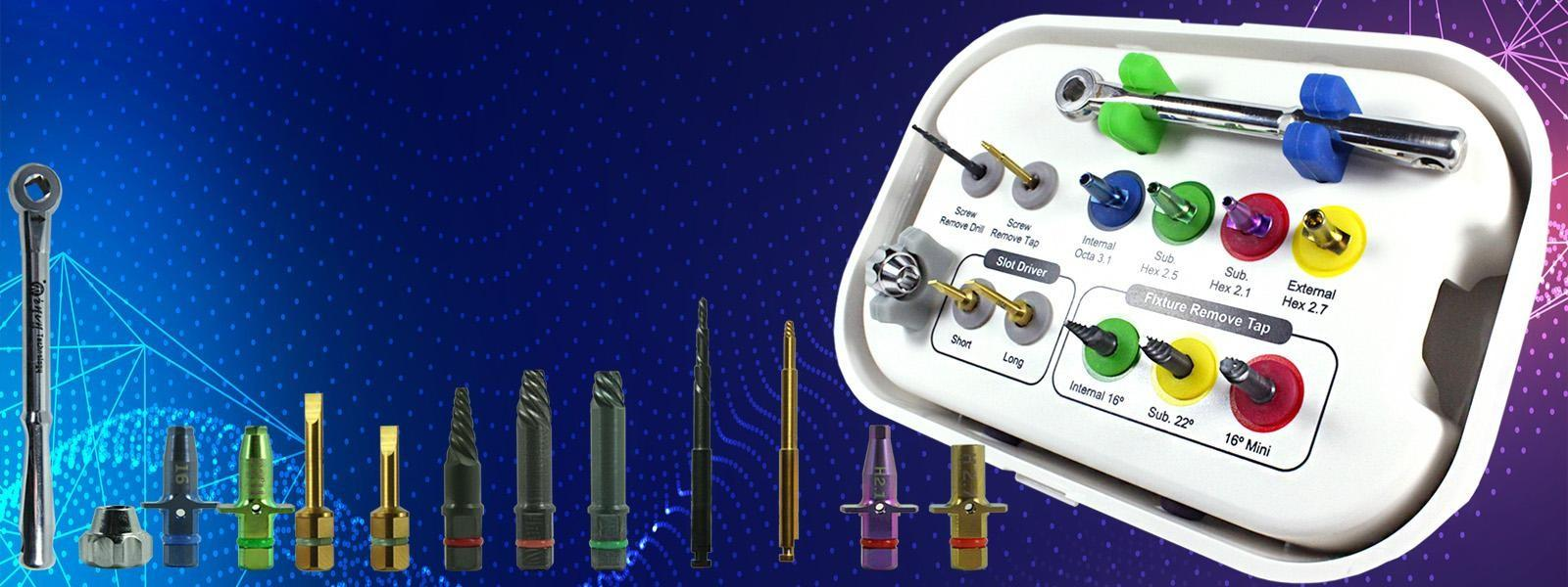 New Generation All-in-One Implant and Screw Extraction Kit Compatible with all major implant systemsSee more...