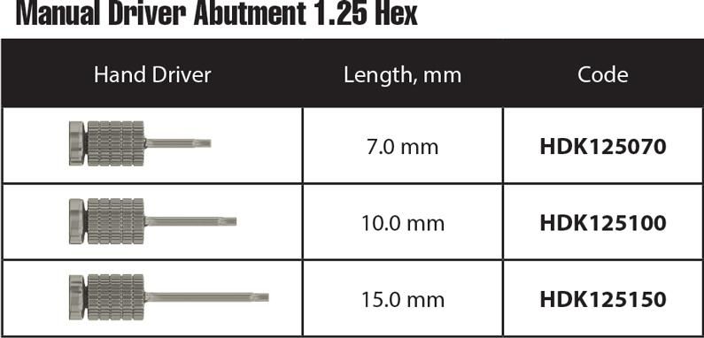 Manual-Driver-Abutment-1.25-Hex Instruments and tools
