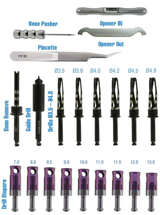 OneDrillingSystem Surgical Implantology Kits