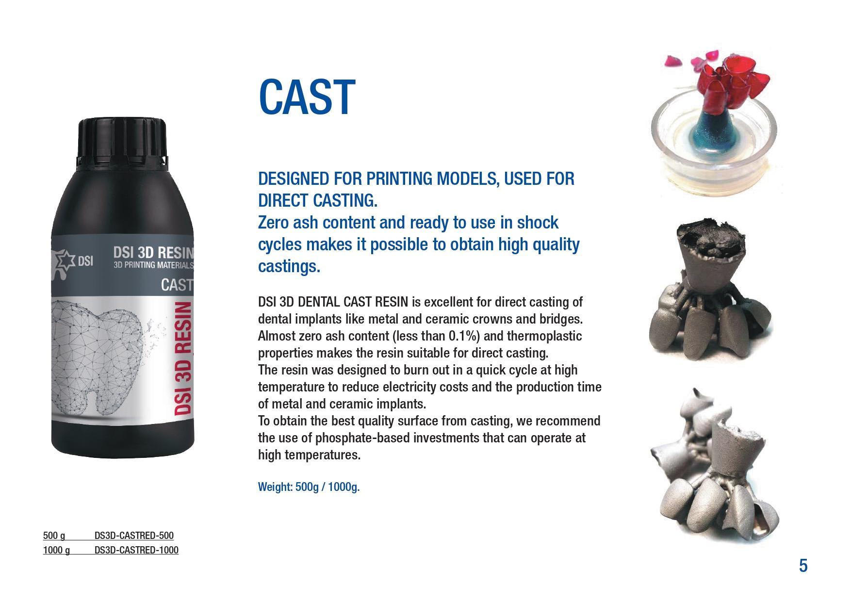 CAST 3D Castable Resin
